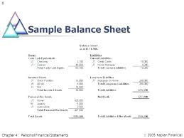 Financial Balance Sheet Template Sample Income Statement Template