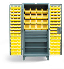 Storage Bin Cabinet Strong Hold Products Bin Storage Cabinet With 4 Drawers