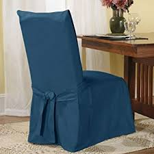 sure fit duck solid dining room chair slipcover bluestone sf33072