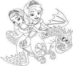 Small Picture printable Sofia the First cartoon coloring pages for kids