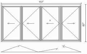 t3 left swing folding glass door system