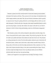 student essay samples student argumentative essay