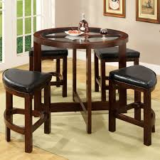 pub style dining room table bar sets thesoundlapse stools round black set dinette large and chairs compact counter height kitchen white marble top leather