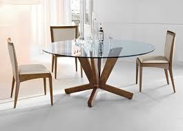 kitchen dining round glass table for small room modern deluxe furniture set stunning with chrome legs
