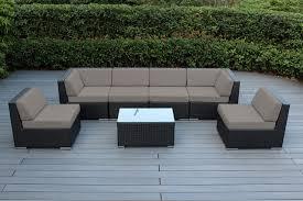 7 pc outdoor patio sets ohana wicker