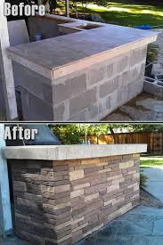 stone patio bar. Fake Nailon Stone Wall - BBQ Remodel I Want To Do This My Fireplace Patio Bar