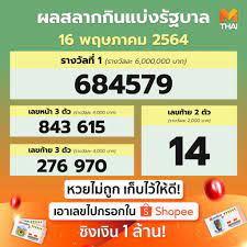 หวยไทย หวยรัฐบาล ผลหวยไทย