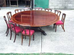 antique dining room table and chairs for huge round table diameter round regency revival antiques