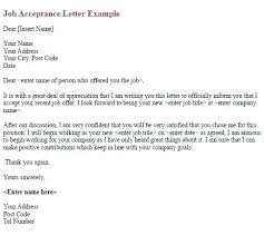 Thank You Letter After Offer Adorable Job Offer Acceptance Letter Reply Current Experience Visualize Of