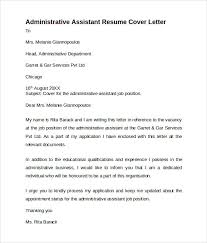 10 administrative assistant cover letters samples examples formats covering letter for admin job