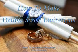 Make Your Own Scroll Wedding Invitations Diy
