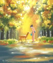 draw beautiful nature scenery and