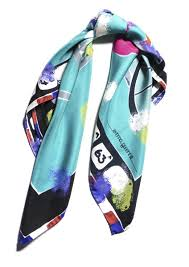 Designer Silk Scarves Les Parisiennes Square Silk Scarf