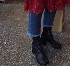 Online Shop Ladies Split Toe <b>Leather</b> Mid-Calf Boots Block High ...