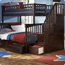 full bunk beds with stairs. Brilliant Full Atlantic Furniture  Columbia Staircase Bunk Bed Twin Over Full With 2  Raised Panel Drawers In An Antique Walnut Finish Intended Beds With Stairs I