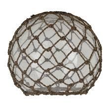 6 25 in h 7 5 in w rope clear glass coastal globe pendant light shade