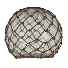 6 25 in h 7 5 in w rope clear glass coastal globe pendant light shade at com