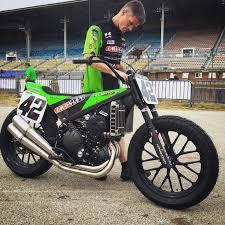 bryan smith s kawasaki 650 r flat track motorcycles pinterest