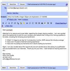 Cover Email For Resume Captivating Amazing Sending A Resume Via