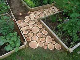 garden ideas with wood. how to turn wood logs and tree stumps into unique accessories | garden paths, paths slab ideas with r