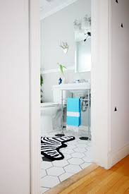 Zebra Bathroom Rug Lifestyle Wayfair Winter Refresh Challenge My Home Styling