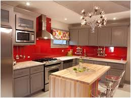 Red Gloss Kitchen Cabinets Kitchen Red Kitchen Cabinets What Color Walls Red Kitchen