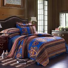 retro style bohemian bedroom decoration with queen size beds set comforter sets prepare 7