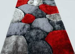 black red and grey area rugs rug gy modern actual size x 6 gray