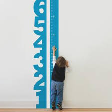 Big Numbers Growth Chart Decal Kids Height Chart Vinyl