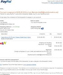 Proof Of Receipt Template Amazing Email Phishing Scam Fake PayPal Receipt For Your PayPal Payment
