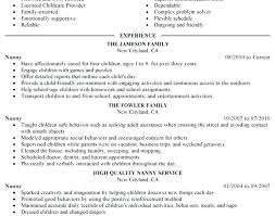 Sample Of Nanny Resume Sample Resume For High School Student O ...