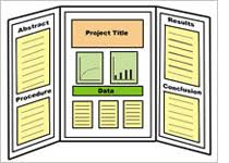 tri fold board template 3 panel poster display template science fair projects