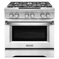 the dual fuel design of this commercial style range available in a variety of bold colors features a gas cooktop with electric oven