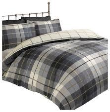 lomond plaid flannelette duvet cover set traditional duvet covers sets by rapport