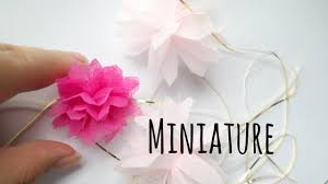 how to make miniature party tissue pom pom for your dollhouse tutorial
