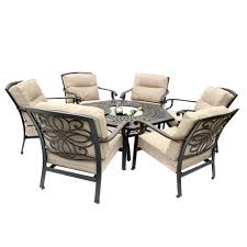 kensington firepit grill 6 chair firepit set with 150cm low hexagonal table