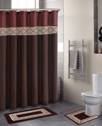 home dynamix designer bath shower curtain and bath rug set db15d 246 diamond rust brown home design collection modern shower curtain mat set shower