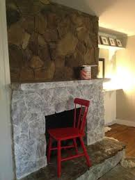 painted stone wallPainting a Stone FireplaceFinally I Did It