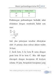 Materi perbandingan bertingkat matematika smp kelas 9. Contoh Soal Perbandingan Bertingkat Matematika Smp Kelas 9 Jawabanku Id