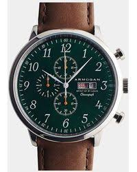 paul smith green city classic watch in green for men lyst armogan emerald green spirit of st louis watch lyst