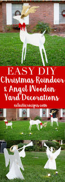 reindeer and angel wooden yard decorations diy holiday diy craft