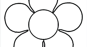 Simple Flower Coloring Pages Flowers Printable Coloring Pages Free