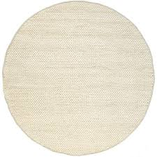 nuloom chunky woolen cable off white 6 ft x 6 ft round area rug