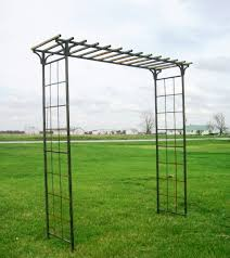 interior metal arbor arch wrought iron wide mission enchanting garden treasures with bench oasis gate