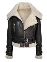 women s aviator sheepskin shearling er fur jacket staroutfits com