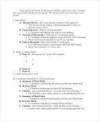 Informative Speech Outline Example Template Sample Format – Awesome ...