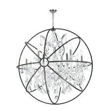 chrome orb chandelier astounding polished sphere font crystal lighting ceiling large chr chrome orb chandelier