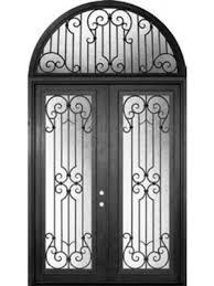 double white door texture. Milano Full Lite Double Wrought Iron Door 8\u0027 0\ White Texture U