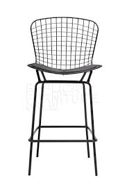 Harry Bertoia Wire Bar Stool Replica In Black Powdercoat ...