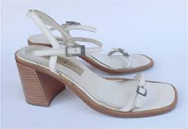 White Designer Shoes Heels Vintage White Sandals White Strap Sandals White High Heel